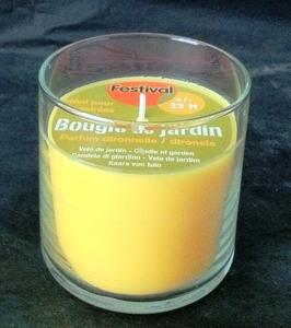 Bougie en verre citronnelle végétale