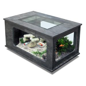 Table aquarium pierre min rale 192l botanic for Aquarium botanic