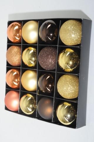 Coffret de 16 boules de Noël