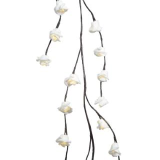 Guirlande lumineuse branches de roses intérieur