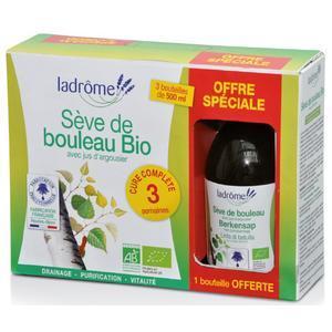 Valisette Sève de bouleau 1 Bouteille Offerte 3 x 500 ml LA DRÔME PROVENÇALE