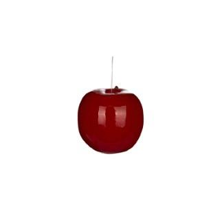 Pomme rouge laquée décorative – 7 ,5 cm de diamètre 125452