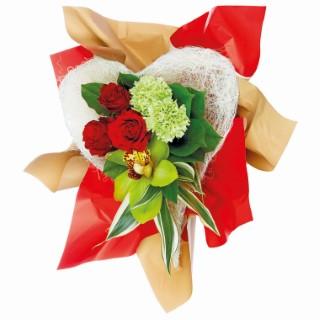Bouquet bulle Saint Valentin