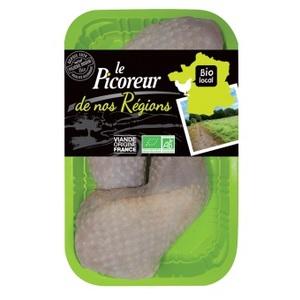 Cuisse de poulet noir 100% Bio (prix au kilo) 133646