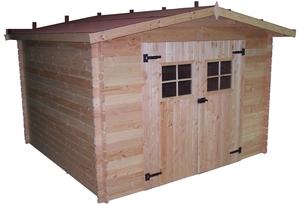 Abri de jardin MONTARON avec plancher / livré et monté