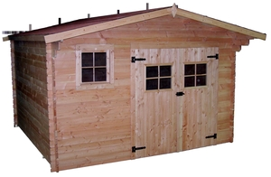 Abri de jardin DOMMAR avec plancher / livré
