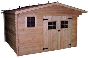 Abri de jardin DOMMAR avec plancher / livré et monté