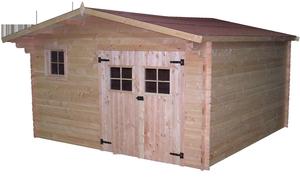 Abri de jardin BAZOCHES avec plancher / livré et monté