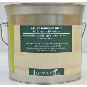 Lasure naturelle blanche Botanic 3 litres