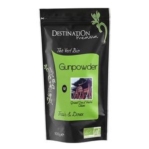 Thé vert nature gunpowder  Destination 100 g