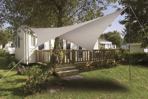 Voile ombrage taupe 3,6m carrée Serenity