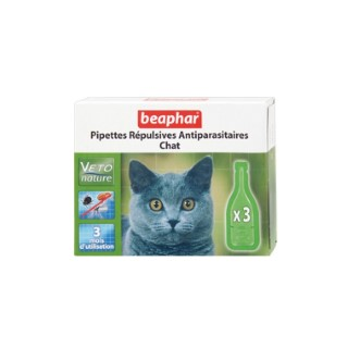 Antiparasitaires chat x3 pipettes Beaphar
