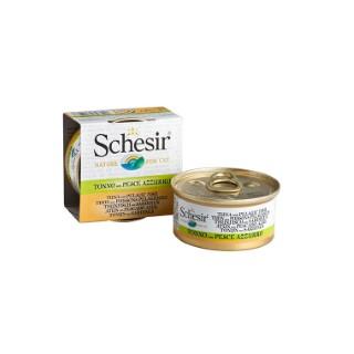 Boîte pour chat Schesir Thon Poissons + bouillon 70 g