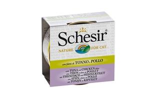 Boîte pour chat Schesir Thon Poulet + bouillon 70 g