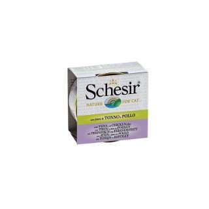 Boîte pour chat Schesir Thon Poulet + bouillon 70 g 159202