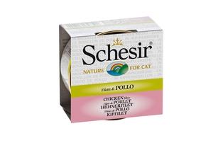 Boîte pour chat Schesir Poulet + bouillon 70 g