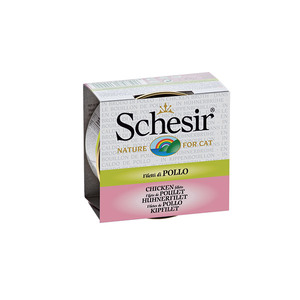 Boîte pour chat Schesir Poulet + bouillon 70 g 159203
