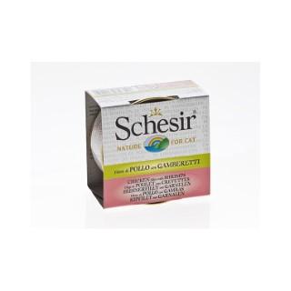 Boîte pour chat Schesir Poulet Crevettes + bouillon 70 g 159205
