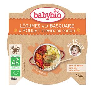Menu du jour poulet Basquaise et riz Babybio 260 g 160666