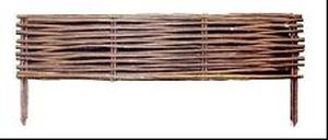 Bordure en osier L 100 cm x H 35 cm brun