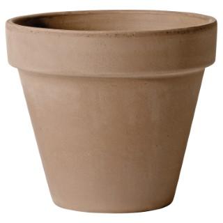 Vase brut en terre cuite 0.7L couleur moka 162831