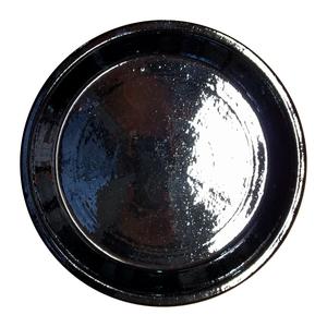 Soucoupe en terre émaillée couleur métal - Ø 45 cm 163301