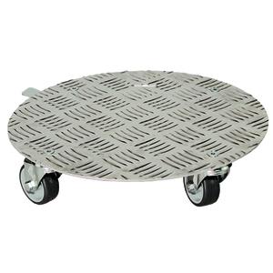 Support à roulettes en aluminium rond Ø 30 cm 163668