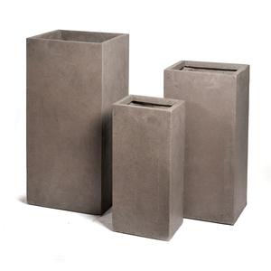 Pot carré haut GENEVE 33x33xH.70 Taupe 163757