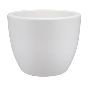 Pot 40cm Pure Soft Round avec roulettes Elho blanc