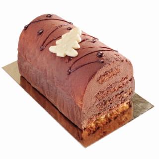 Bûche pralinée chocolat 4/5 tranches