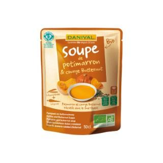 Soupe bio potimarron et courge butternut 50 cl