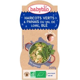 Bonne Nuit Légumes verts Blé bio 2 x 200 g BABYBIO