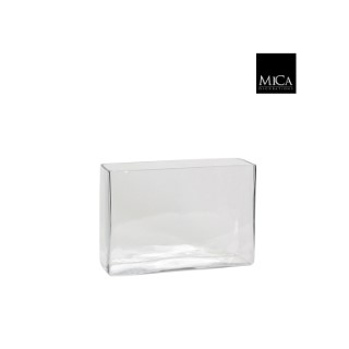 Vase Britt rectangulaire transparent en verre 30x10x20 cm 174564