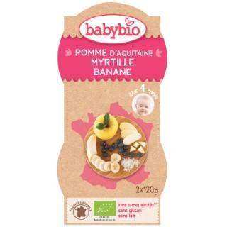 Mes Fruits Pom-Myrtille Banane bio BABYBIO