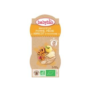 Mes Biscuités Pêche Abricot bio BABYBIO