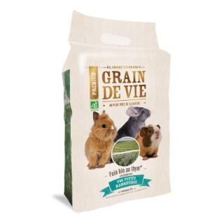 Foin bio au thym petits mammifères Grain de vie® - 25L 185965