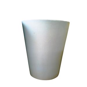 Pot Mazagran blanc pur en terre cuite émaillée H 63 X Ø 55 cm