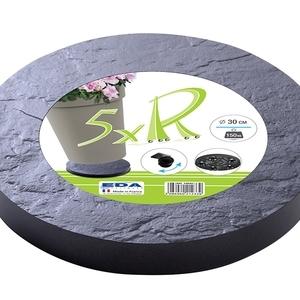 Roule pot rond 30 cm décor pierre ardoise