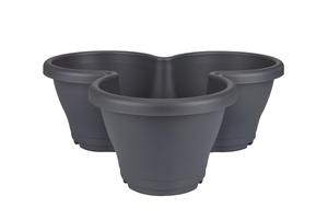 Pot CORSICA Vertical garden Anthracite Ø.44 x H.34 cm 12 litres