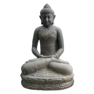 Statue de jardin Bouddha assis H 60 cm 190385
