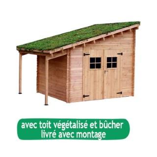 abri de jardin flora avec toit v g talis et b cher livr et mont botanic. Black Bedroom Furniture Sets. Home Design Ideas