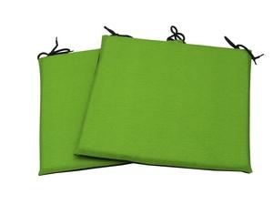 Lot de 2 coussins d'assises vert et gris