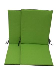 Lot de 2 coussins d'assises pour fauteuil haut dossier