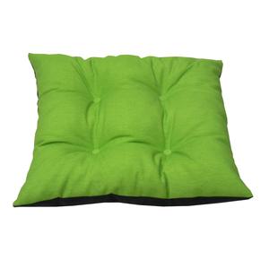 Assise chaise déhoussable vert gris 38x38 cm