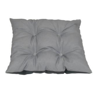 Assise chaise déhoussable gris clair 38x38 cm