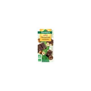 Chocolat noir noisettes entières 100 g BONNETERRE
