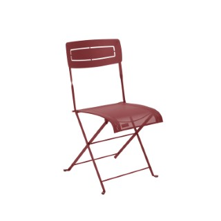 Chaise pliante Slim d'extérieur couleur piment