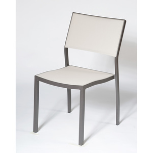 Chaise de jardin POL chocolat/lin