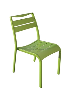 Chaise de jardin empilable Smile verte