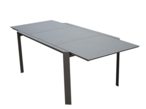 Table de jardin en alu Smile taupe